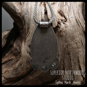 Kona Dolomite Pendant / Sterling Silver ~ Upper Peninsula Michigan ~ Marquette ~ Michigan Made