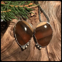 "Load image into Gallery viewer, ""Heart of Hearts"" Lake Superior Agate Pendants (Pair) ~ Michigan Made ~ Upper Peninsula"