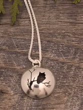 "Load image into Gallery viewer, Bewitching Sterling Silver ""Owl Moon"" Pendant ~ Made in Michigan ~ Upper Peninsula"