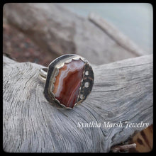 Load image into Gallery viewer, Lake Superior Agate Ring ~ Size 7