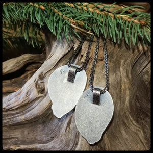 """Heart of Hearts"" Lake Superior Agate Pendants (Pair) ~ Michigan Made ~ Upper Peninsula"