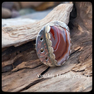 Lake Superior Agate Ring ~ Size 7