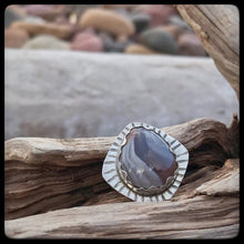 Load image into Gallery viewer, Lake Superior Agate Ring ~ Size 8.5