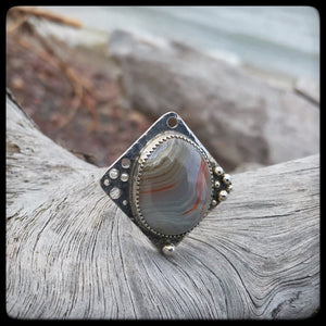 Lake Superior Agate Ring ~ Size 10.25