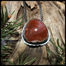 Load image into Gallery viewer, Lake Superior Agate Pendant Keweenaw Sunset
