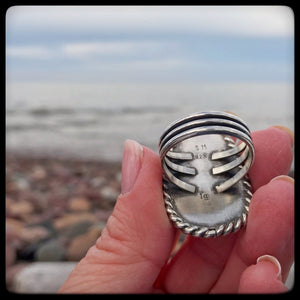 Lake Superior Agate Ring ~ Size 9