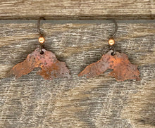 Load image into Gallery viewer, Copper Lake Superior Earrings ~ Made in Michigan ~ Upper Peninsula