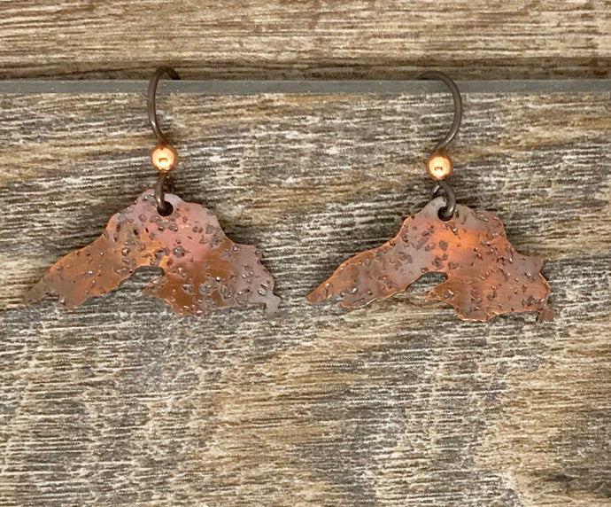 Copper Lake Superior Earrings ~ Made in Michigan ~ Upper Peninsula