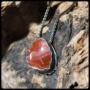 Lake Superior Agate Pendant Keweenaw Sunset