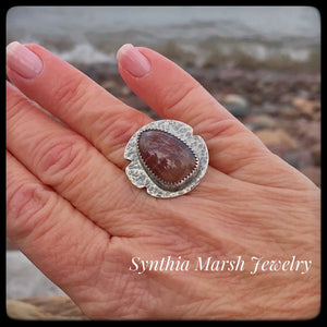 Lake Superior Agate Ring ~ Size 6.5-6.75