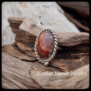 Lake Superior Agate Ring ~ Size 5