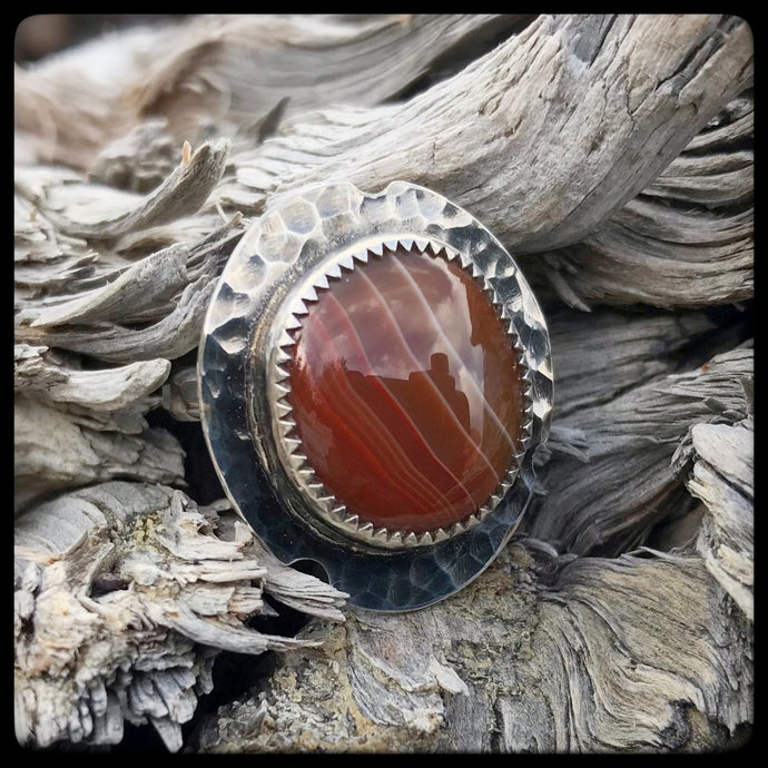 Lake Superior Agate Ring ~ Size 8.75