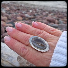 Load image into Gallery viewer, Lake Superior Agate Ring ~ Size 8