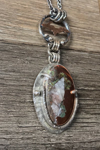 Michigan Upper Peninsula Native Copper and Sterling Silver Pendant ~ Michigan Made