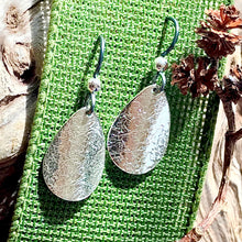Load image into Gallery viewer, Teardrop Sterling Silver Dangle Earrings ~ Made in Michigan ~ Upper Peninsula