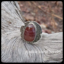 Load image into Gallery viewer, Lake Superior Agate Ring ~ Size 6.5-6.75
