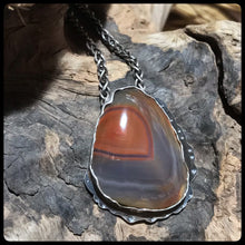 Load image into Gallery viewer, Lake Superior Agate Pendant ~Winter Beauty