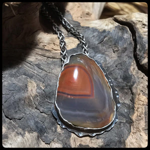 Lake Superior Agate Pendant ~Winter Beauty