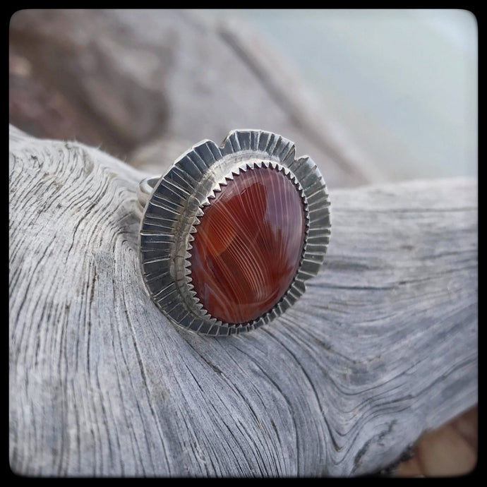 Lake Superior Agate Ring ~ Size 7.5