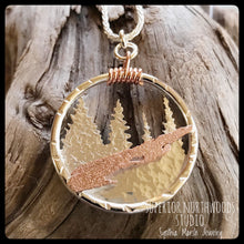 Load image into Gallery viewer, Michigan Isle Royale Copper and Sterling Silver Pendant ~ Michigan Made ~ Upper Peninsula