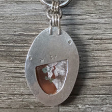Load image into Gallery viewer, Michigan Upper Peninsula Native Copper and Sterling Silver Pendant ~ Michigan Made