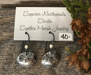 Floral Sterling Silver Dangle Earrings ~ Made in Michigan ~ Upper Peninsula