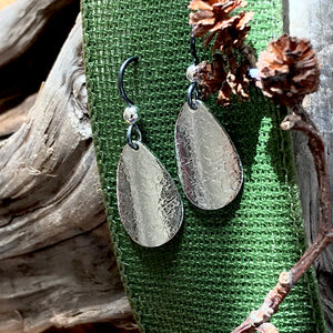 Teardrop Sterling Silver Dangle Earrings ~ Made in Michigan ~ Upper Peninsula
