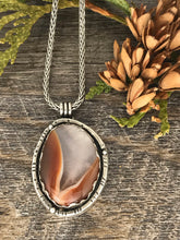 Load image into Gallery viewer, Lake Superior Agate set in Sterling Silver ~ Pendant ~ Made in Michigan ~ Upper Peninsula