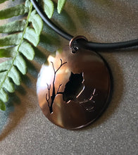 "Load image into Gallery viewer, Bewitching Copper ""Owl Moon"" Pendant ~ Made in Michigan ~ Upper Peninsula"