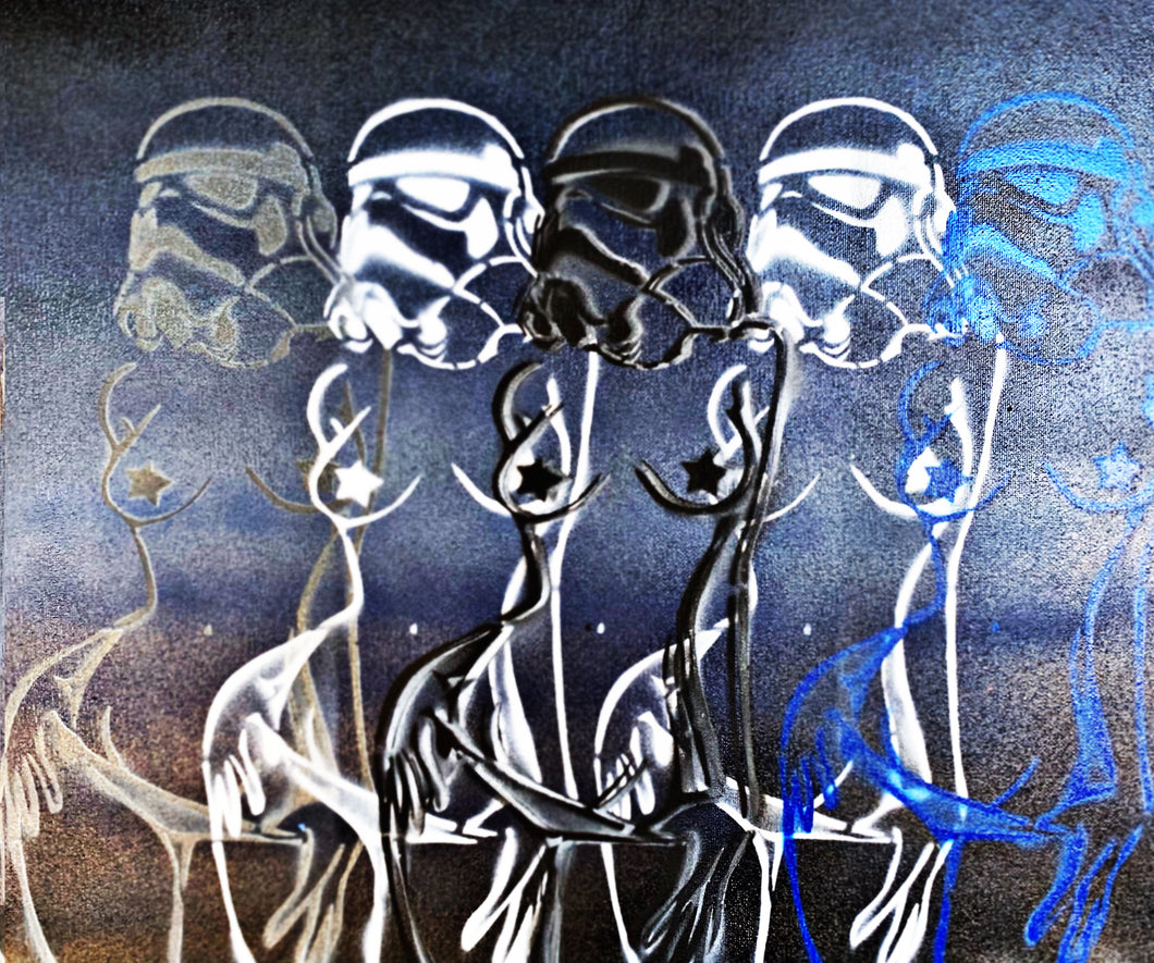 Sexy Storm Trooper Overlay (blue/gray)