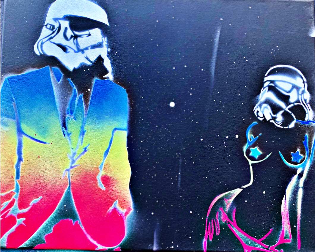 Star Wars Classy vs Sexy Storm Trooper (rainbow)