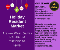 12-10-2019 (Tue) Holiday Resident Market @Alexan West Dallas, Dallas, TX