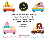 12-03-2019 (Tue) FOOD TRUCK ONLY Event @Forum at Grand Praire, Grand Praire, TX