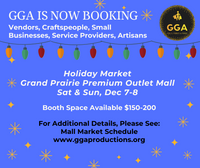 12-07/08-2019 (Sat/Sun) Vendor Holiday Mall Market @Grand Prairie Premium Outlets, Grand Prairie, TX