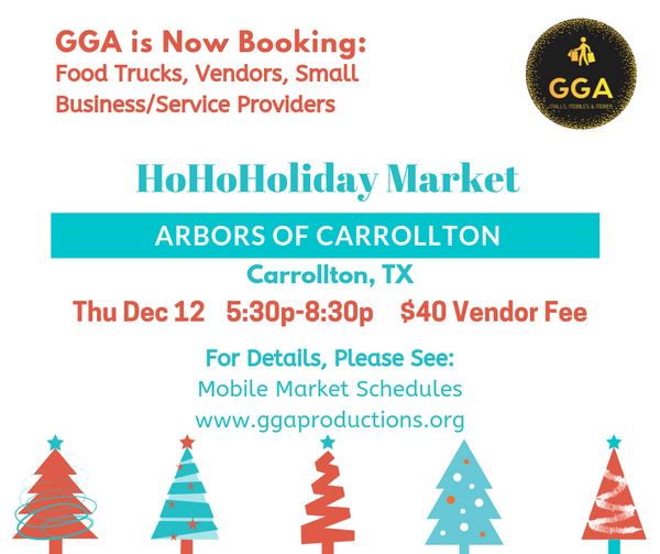 12-12-2019 (Thu) HoHoHoliday Market @Arbors of Carrollton, TX