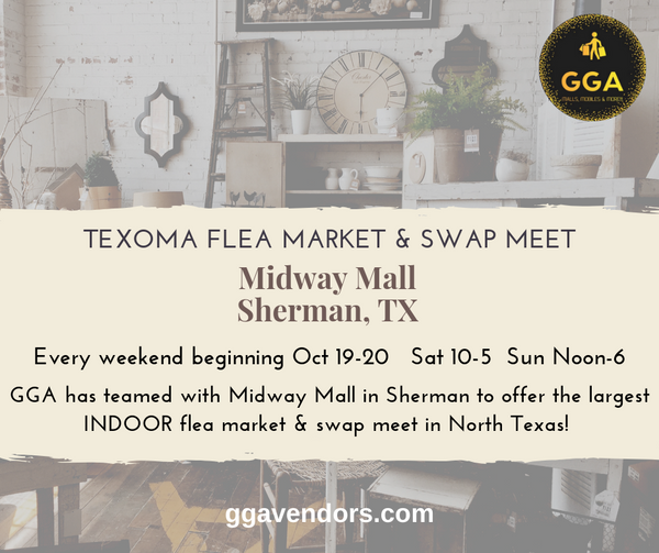 12-14/15-2019 (Sat/Sun) Texoma Flea Market and Swap Meet @Midway Mall, Sherman, TX