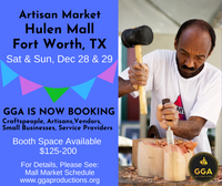 12-28/29-2019 (Sat/Sun) Artisan Market @Hulen Mall, Fort Worth, TX