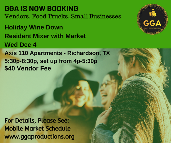 12-04-2019 (Wed) Holiday Wine Down Mixer with Market @Axis 110, Richardson, TX