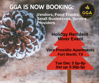 12-03-2019 (Tue) Holiday Resident Mixer Event @Vera Presidio Apartments, Fort Worth, TX