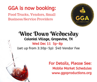 12-11-2019 (Wed) Wine Down Wednesday @Colonial Village, Grapevine, TX