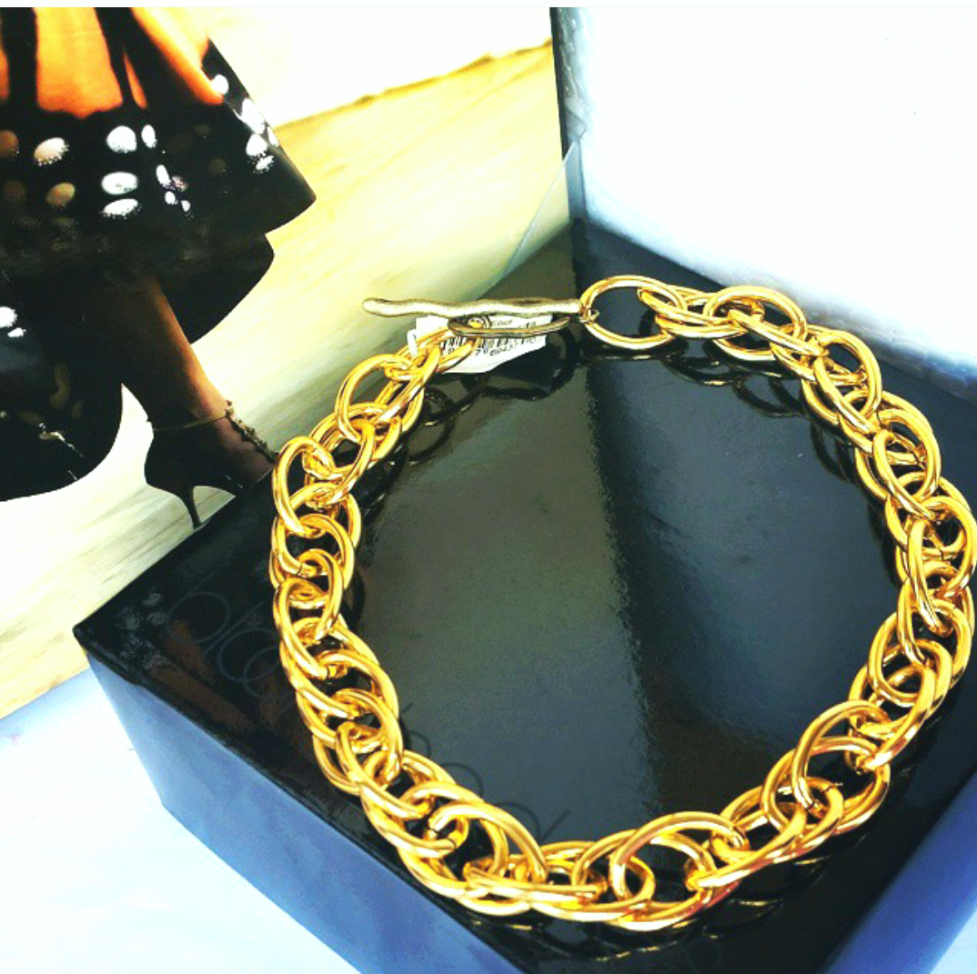 Gold Double Link Necklace