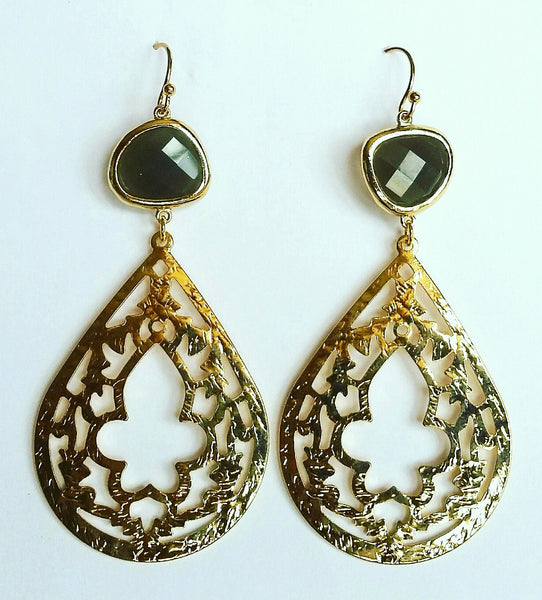 Gold Moroccan Chandelier Earrings