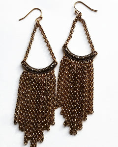 Black Diamond Crystal Chandelier Earrings Sold Out