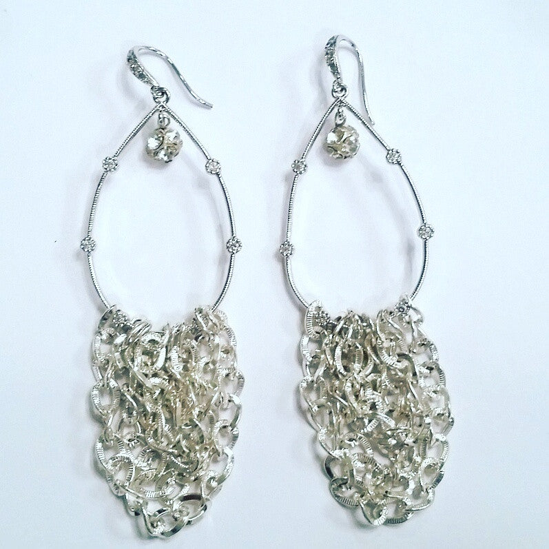 Zia Chandelier Hoop Earrings