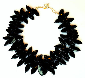 Black Jet Collar Necklace