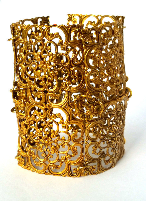 Egyptian Brass Cuff Bracelet
