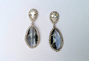 Silver Pave Crystal Marquis Earring
