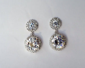 Cubic Zirconia Pave Earrings