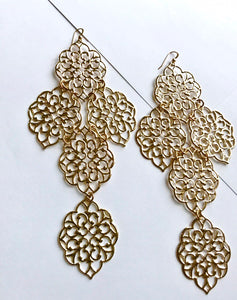 Egyptian Nadia Gold Earrings