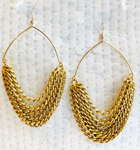 Boho Gold Hoop Earrings